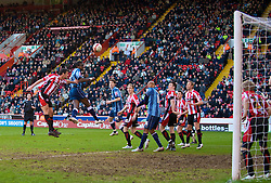SHEFFIELD, ENGLAND - Saturday, March 1, 2008: Charlton Athletic's Sam Sodje scores the second goal against Sheffield United during the League Championship match at Bramall Lane. (Photo by David Rawcliffe/Propaganda)