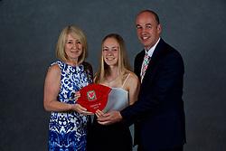 NEWPORT, WALES - Saturday, May 19, 2018: Ellan Jones and family during the Football Association of Wales Under-16's Caps Presentation at the Celtic Manor Resort. (Pic by David Rawcliffe/Propaganda)