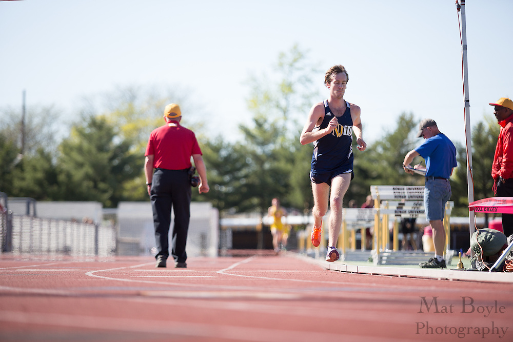 The College of New Jersey's Dylan Lynch competes in the men's 10000 meter at the NJAC Track and Field Championships at Richard Wacker Stadium on the campus of  Rowan University  in Glassboro, NJ on Saturday May 4, 2013. (photo / Mat Boyle)