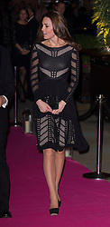 LONDON- UK - 23-OCT-2014: The Duchess of Cambridge, Patron, Action on Addiction will attend an Autumn Gala Evening dinner and reception at L'Anima Restaurant, London. Her Royal Highness will meet charity supporters during a pre-dinner reception and hear a speech by Action on Addiction Chairman John Lloyd, followed by a performance from Comedian Rory Bremner.<br /> Photo by Ian Jones