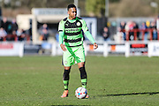 Forest Green's Keanu Marsh-Brown on the ball during the Vanarama National League match between Bromley FC and Forest Green Rovers at Hayes Lane, Bromley, United Kingdom on 28 March 2016. Photo by Shane Healey.
