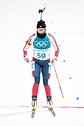 February 12, 2018 - Pyeongchang, SOUTH KOREA - 180212  Ingrid Landmark Tandrevold of Norway competes in the Women's Biathlon 10km Pursuit during day three of the 2018 Winter Olympics on February 12, 2018 in Pyeongchang..Photo: Jon Olav Nesvold / BILDBYRN / kod JE / 160156 (Credit Image: © Jon Olav Nesvold/Bildbyran via ZUMA Press)