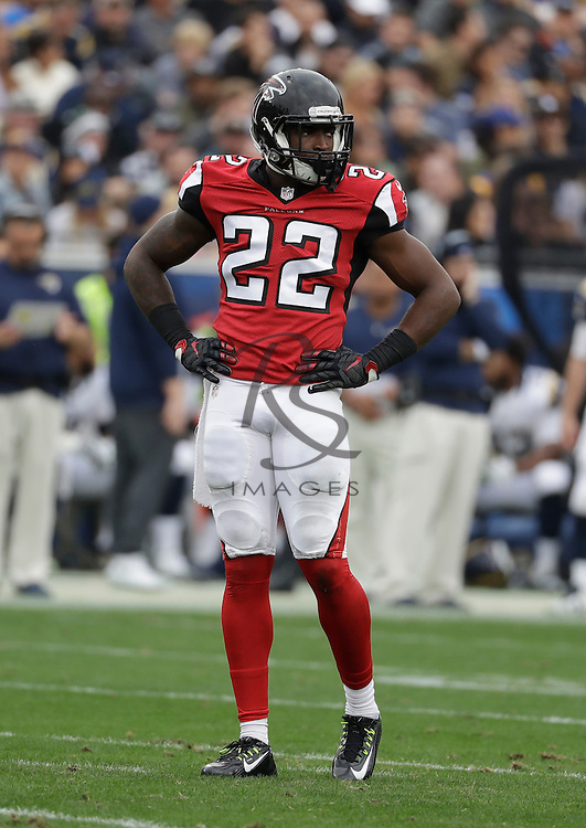 Atlanta Falcons strong safety Keanu Neal (22) during the first half of an NFL football game against the Los Angeles Rams, Sunday, Dec. 11, 2016, in Los Angeles. (AP Photo/Rick Scuteri)