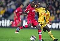 Fotball<br /> Frankrike 2004/05<br /> Nantes v Paris Saint Germain<br /> 16. oktober 2004<br /> Foto: Digitalsport<br /> NORWAY ONLY<br /> REINALDO (PSG) / EMERSE FAE (NAN)