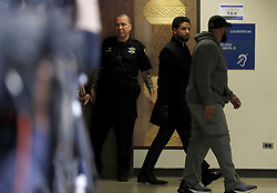 March 26, 2019 - Chicago, IL, USA - Actor Jussie Smollett exits courtroom 101 into the hallway at the Leighton Criminal Court Building following an emergency hearing over his disorderly conduct charges on Tuesday, March 26, 2019. (Credit Image: © Jose M. Osorio/Chicago Tribune/TNS via ZUMA Wire)