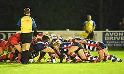 Caity Mattinson of Bristol Ladies feeds the ball into a scrum - Mandatory by-line: Paul Knight/JMP - 16/12/2017 - RUGBY - Cleve RFC - Bristol, England - Bristol Ladies v Worcester Valkyries - Tyrrells Premier 15s