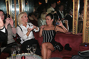 VANESSA MIEDLER AND JOANNE LEIGH, Agent Provocateur celebrate the launch of Agent Provocateur Maitresse Gold Edition. The Grill Room. Cafe Royal London. 3 October 2007. -DO NOT ARCHIVE-© Copyright Photograph by Dafydd Jones. 248 Clapham Rd. London SW9 0PZ. Tel 0207 820 0771. www.dafjones.com.