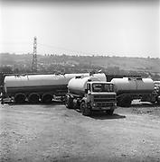 Water trucks, at Glastonbury, 1989.