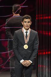 November 13, 2017 - Cheste, Spain - MotoGP Award Night Marc Marquez Motogp world champion (Credit Image: © Gaetano Piazzolla/Pacific Press via ZUMA Wire)