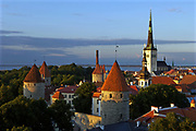 Sunset over Tallinn, Estonia