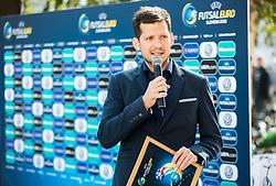 Andrej Kandare during presentation of VW Volkswagen car company as an official mobility partner of Futsal EURO 2018 in Ljubljana, Slovenia, on September 28, 2017. Photo by Vid Ponikvar / Sportida