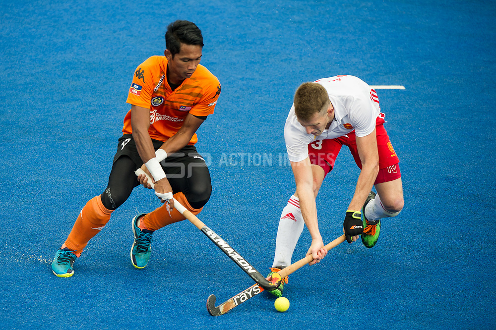 Sam Ward. England v Malaysia - 3rd/4th Playoff - Hockey World League Semi Final, Lee Valley Hockey and Tennis Centre, London, United Kingdom on 25 June 2017. Photo: Simon Parker