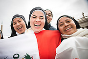 Vatican March 21; 2018 - Happy Mexican nuns during Pope Francis weekly general audience.