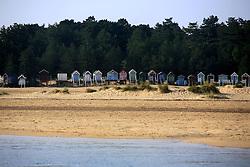 UK ENGLAND NORFOLK SHERINGHAM SHOAL 25SEP13 - Beach huts near Wells-next-the-Sea on the Norfolk coast, England.<br /> <br /> <br /> <br /> jre/Photo by Jiri Rezac<br /> <br /> <br /> <br /> © Jiri Rezac 2013