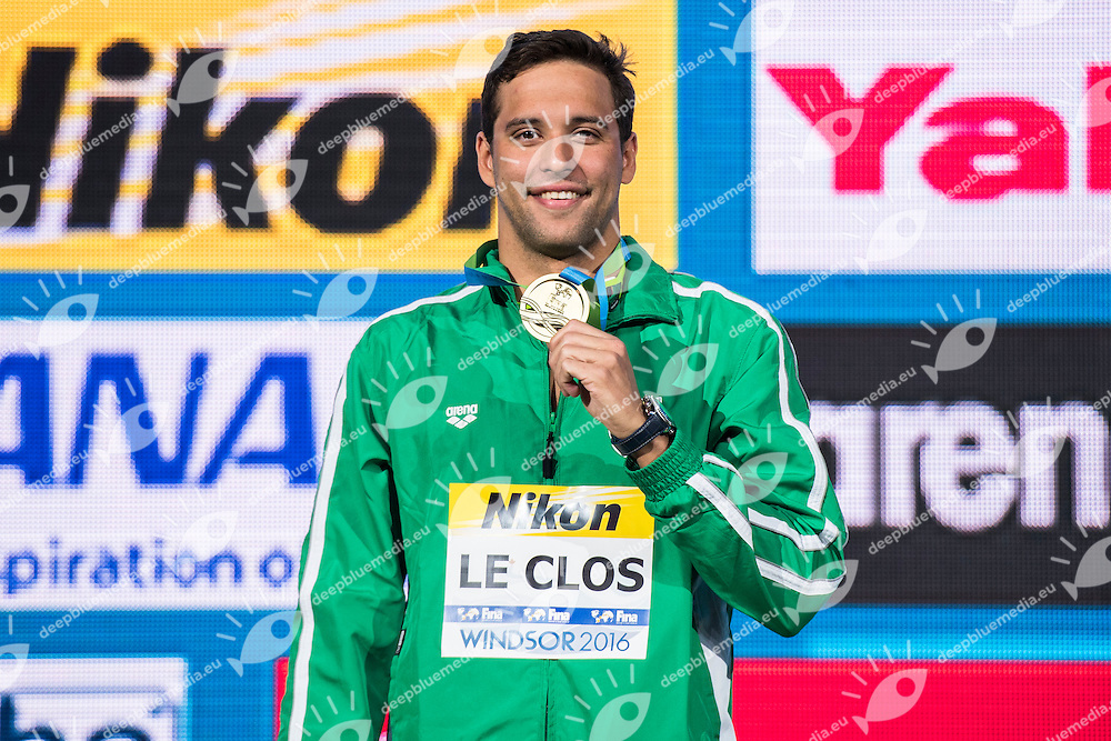 LE CLOS Chad RSA Gold Medal WR<br /> Men's 100m Butterfly<br /> 13th Fina World Swimming Championships 25m <br /> Windsor  Dec. 8th, 2016 - Day03 Finals<br /> WFCU Centre - Windsor Ontario Canada CAN <br /> 20161208 WFCU Centre - Windsor Ontario Canada CAN <br /> Photo &copy; Giorgio Scala/Deepbluemedia/Insidefoto