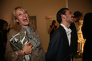 Bay Garnett and Matthew Williamson, 10 Years in Fashion, private view. Design Museum. shad thames. London. 16 October 2007. -DO NOT ARCHIVE-© Copyright Photograph by Dafydd Jones. 248 Clapham Rd. London SW9 0PZ. Tel 0207 820 0771. www.dafjones.com.
