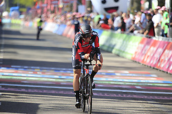 Joseph Rosskopf (USA) BMC Racing Team crosses the finish line of Stage 1 of the 2016 Giro d'Italia, an individual time trial of 9.8km around Apeldoorn, The Nethrerlands. 6th May 2016.<br /> Picture: Eoin Clarke | Newsfile<br /> <br /> <br /> All photos usage must carry mandatory copyright credit (© Newsfile | Eoin Clarke)