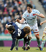 Twickenham, GREAT BRITAIN, Oxfords', Sean MORRIS, tackled,  during the 2010 Varsity Rugby match Oxford vs Cambridge played at the RFU Stadium Twickenham, Surrey on Thursday  09/12/2010 [Photo, Peter Spurrier/Intersport-images]