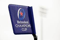 Heineken Champions Cup branding on flags  - Mandatory by-line: Dougie Allward/JMP - 23/11/2019 - RUGBY - Sandy Park - Exeter, England - Exeter Chiefs v Glasgow Warriors - Heineken Champions Cup