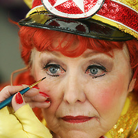Crystal Chatham The Desert Sun<br /> <br /> 01/15/2009 -- Dancer Dorothy Dale Kloss finishes her makeup backstage before the 1:30 p.m. matinee show of The Fabulous Palm Springs Follies on Thursday, January 15, 2009. Kloss, who is 85 and has been an entertainer most of her life, says her makeup takes about 20 minutes. &quot;I'm the last one in and the first one out,&quot; she said of backstage preparations.