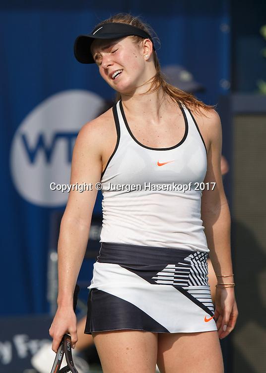 ELINA SVITOLINA (UKR) reagiert veraergert, Aerger,Frust,Emotion,<br /> <br /> Tennis - Dubai Tennis Championships 2017 -  WTA -  Dubai Duty Free Tennis Stadium - Dubai  -  - United Arab Emirates  - 23 February 2017.