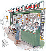 A tiny art gallery celebrates five decades at Pike Place Market.<br />