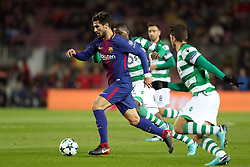 December 5, 2017 - Barcelona, Catalonia, Spain - ANDRE GOMES of FC Barcelona during the UEFA Champions League, Group D football match between FC Barcelona and Sporting CP on December 5, 2017 at Camp Nou stadium in Barcelona, Spain. (Credit Image: © Manuel Blondeau via ZUMA Wire)