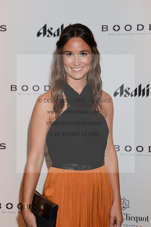 British fine jewellery brand Boodles welcomed guests for the 2013 Boodles Boxing Ball in aid of Starlight Children's Foundation held at the Grosvenor House Hotel, Park Lane, London on 21st September 2013.<br /> Picture Shows:-PIPPA MIDDLETON.<br /> <br /> Press release - https://www.dropbox.com/s/a3pygc5img14bxk/BBB_2013_press_release.pdf<br /> <br /> For Quotes  on the event call James Amos on 07747 615 003 or email jamesamos@boodles.com. For all other press enquiries please contact luciaroberts@boodles.com (0788 038 3003)