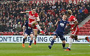 Goal scored by Stewart Downing of Middlesbrough during the EFL Sky Bet Championship match between Middlesbrough and Nottingham Forest at the Riverside Stadium, Middlesbrough, England on 7 April 2018. Picture by Paul Thompson.