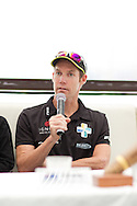 Cameron Brown (NZL). Pre Race Press Conference. 2012 Ironman Cairns Triathlon. Salt House Restaurant, Cairns, Queensland, Australia. 31/05/2012. Photo By Lucas Wroe.