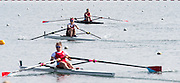 Caversham. Berkshire. UK<br /> Top. Women's Lightweight Single Sculls, Mary WILSON, pushing ahead to wine Semi Final A/B2 at the <br /> 2016 GBRowing U23 Trials at the GBRowing Training base near Reading, Berkshire.<br /> <br /> Tuesday  12/04/2016<br /> <br /> [Mandatory Credit; Peter SPURRIER/Intersport-images]