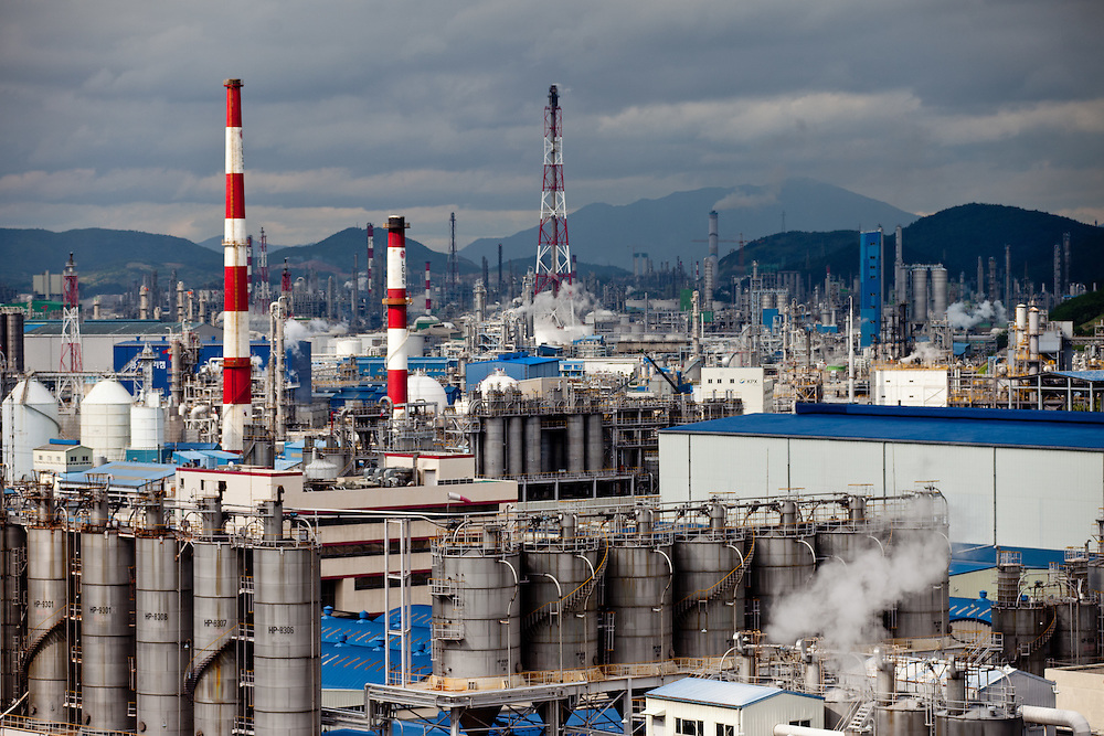 """The Yeosu National Industrial Complex - built in 1967, is the country's largest heavy chemical industrial complex. It accommodates over 120 oil refining, fertilizer, and petrochemical companies, accounting for 26% of domestic oil refining and 50% of domestic ethylene production. Yeosu will host the Expo 2012 exhibition  under the theme """"The Living Ocean and Coast"""". Yeosu (Yeosu-si) is a city in South Jeolla Province. Old Yeosu City, which was founded in 1949, Yeocheon City, founded in 1986, and Yeocheon County were merged into a new city in 1998."""