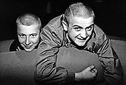 Two skinheads smiling, Bad Manners fans, Ska, 2 Tone, UK 1980