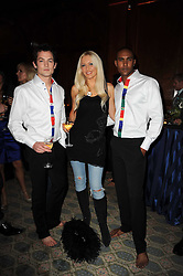 EMMA NOBLE and models at the launch of Grosvenor Shirts luxury collection to celebrate the 2010 FIFA World Cup in South Africa held at 88 St.James's Street, London SW1 on 8th December 2009.