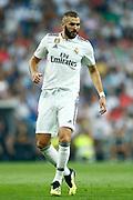 Real Madrid's French forward Karim Benzema reacts during the Spanish championship Liga football match between Real Madrid CF and Leganes on September 1, 2018 at Santiago Bernabeu stadium in Madrid, Spain - Photo Benjamin Cremel / ProSportsImages / DPPI