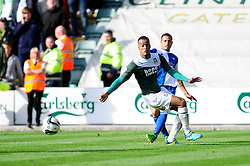 Bristol Rovers' Alefe Santos crosses the ball into the box  - Photo mandatory by-line: Dougie Allward/JMP - Tel: Mobile: 07966 386802 07/09/2013 - SPORT - FOOTBALL -  Home Park - Plymouth - Plymouth Argyle V Bristol Rovers - Sky Bet League Two