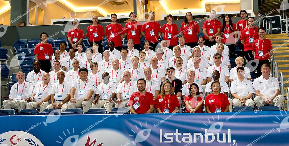 FINA Officials.FINA World Short Course Swimming Championships.Istanbul Turkey 12 - 16 Dec. 2012.Day 04.Photo G.Scala/Deepbluemedia/Inside