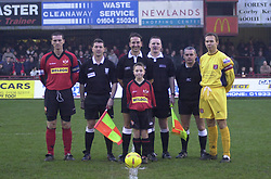 MASCOT LINE UP SCARBOROUGH GAME 12/12/02  Kettering Town v Scarborough  Conference  Rockingham Toad, 14th Decemberr 2002