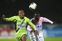 FOOTBALL - FRENCH CHAMPIONSHIP 2010/2011 - L2 - EVIAN TG v FC ISTRES - 15/04/2011 - PHOTO ERIC BRETAGNON / DPPI - AMOR KEHIHA (IS) / OUMAR POUYE (EV)
