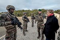 Francoise Dumas, deputee LREM en visite  au 2eme regiment etranger d infanterie.Pendant cette visite elle d&eacute;couvre le VBCI et echange avec les militaires<br /> VBCI<br /> Vehicule blinde de combat &nbsp;fran&ccedil;ais&nbsp;tout-terrain&nbsp;a huit roues, con&ccedil;u et fabrique en France par&nbsp;Nexter Systems&nbsp;et par&nbsp;Renault Trucks Defense<br /> 11&nbsp;soldats&nbsp;peuvent prendre place a bord du vehicule, qui est equipe de tous les moyens de communication modernes<br /> L objectif du VBCI est d amener le&nbsp;fantassin&nbsp;au plus pres des combatLa protection du vehicule peut etre adaptee a la menace<br /> Le VBCI peut-etre&nbsp;aerotransportable&nbsp;par un&nbsp;Airbus A400M.
