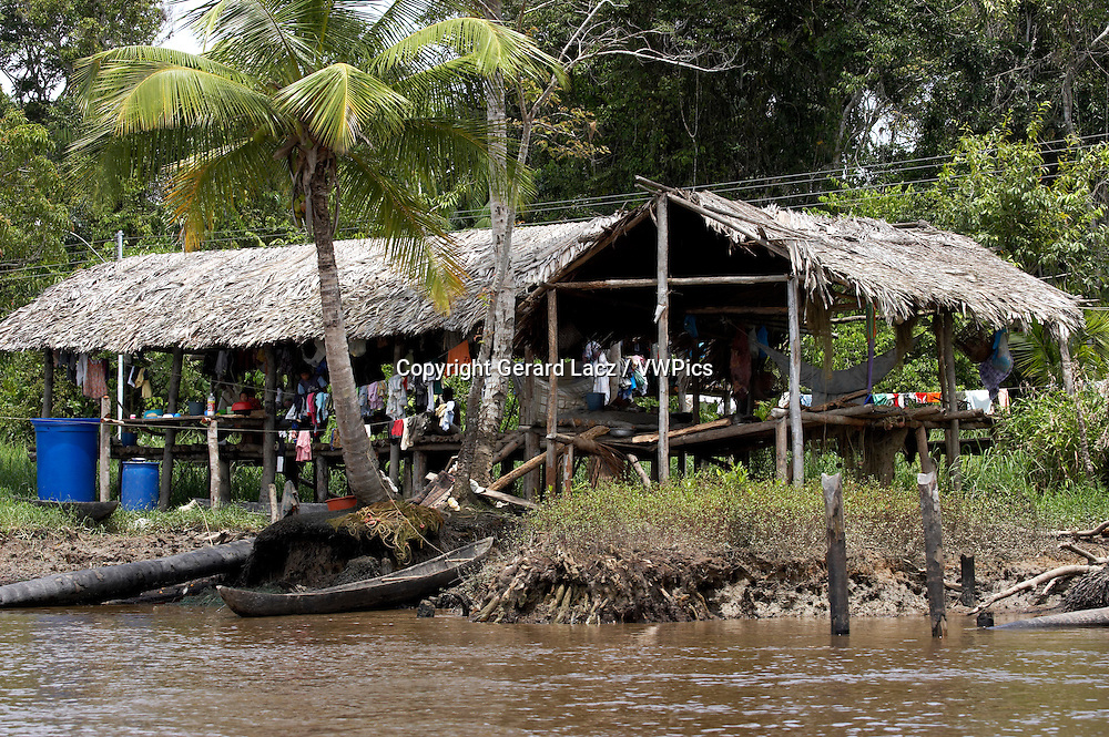 Warao's House, Indian Living in Orinoco Delta, Venezuela
