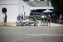 Spectators lined the roads of the fourth, 70 km road race stage of the Amgen Tour of California - a stage race in California, United States on May 22, 2016 in Sacramento, CA.