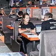 NLD/Hilversum/20170915 - Nationale actiedag Nederland helpt Sint Maarten, telefoonpannel