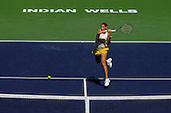 Indian Wells, CA - Flavia Pennetta in action during the final match against Agnieszka Radwanska of Poland during the BNP Paribas Open.