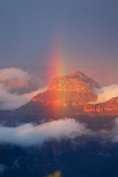 OCT 6, 2016: Following a rain shower on the North Rim of the canyon a rainbow appeared over the canyon in Arizona, Richey Miller/CSM(Credit Image: © Richey Miller/Cal Sport Media)