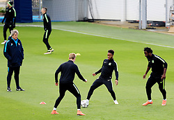 Manchester City Manager, Manuel Pellegrini watches Raheem Sterling, Kevin de Bruyne and Wilfried Bony - Mandatory byline: Matt McNulty/JMP - 25/04/2016 - FOOTBALL - City Football Academy - Manchester, England - Manchester City v Real Madrid - UEFA Champions League Training Session