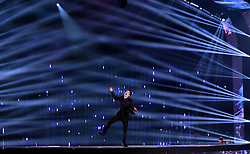 Brendon Urie of Panic! at the Disco performs on stage at the MTV Europe Music Awards 2018 held at the Bilbao Exhibition Centre, Spain.