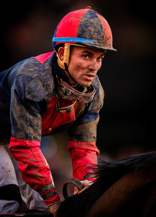 November 01 2014: Jockey, Joel Rosario at the Breeders Cup Classic at Santa Anita Park in Arcadia, California on November 1, 2014. Alex Evers/ESW/CSM