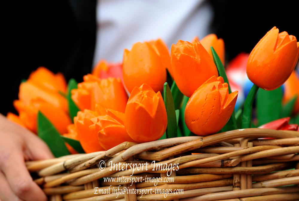 Amsterdam, NETHERLANDS,  Tulips [Wooden] for presentation.   2011 FISA U23 World Rowing Championships, Saturday, 23/07/2011 [Mandatory credit:  Peter Spurrier/Intersport Images].