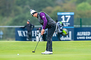 Victor Perez putts on the 2nd green during the final round of the Alfred Dunhill Links Championship European Tour at St Andrews, West Sands, Scotland on 29 September 2019.
